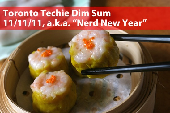 "Toronto Techie Dim Sum - 11/11/11, a.k.a. ""Nerd New Year"" - photo of har gow in a steamer"