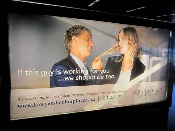 Harassment lawyer ad