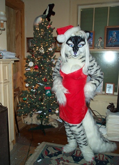 furry female santa