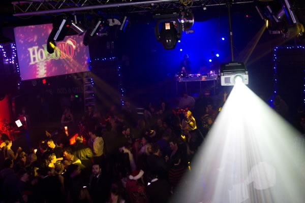 An overhead view of the packed dance floor at HoHoTO
