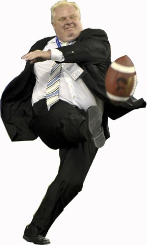 rob ford cutout with football