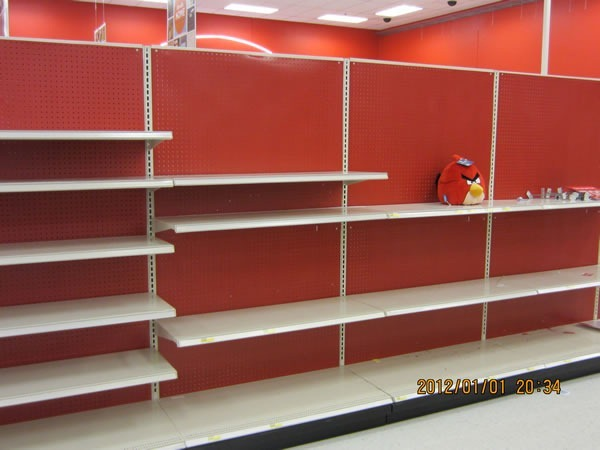 "- Clearance Shelves At Target Or An €�Angry Birds"" Game In Progress?"