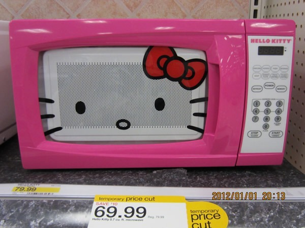 Hello Kitty microwave oven - selling for $69.99