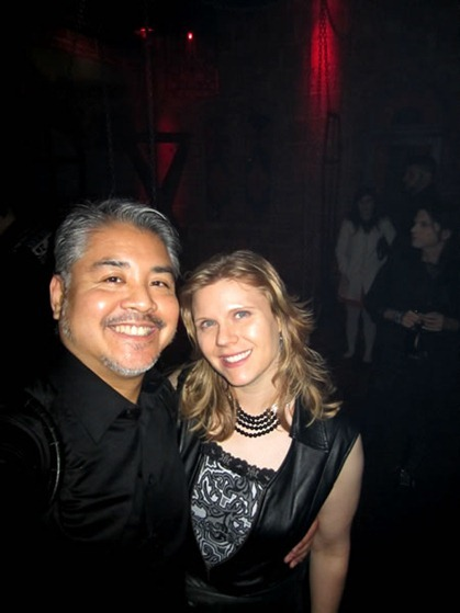 Joey deVilla and a girl. You figure out who she is.