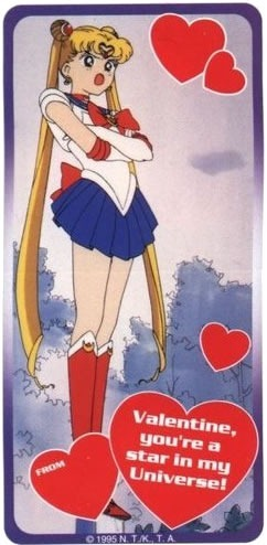 "Sailor Moon: ""Valentine, you're a star in my universe!"""