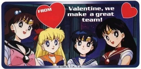 "Sailor Scouts: ""Valentine, we make a great team!"""