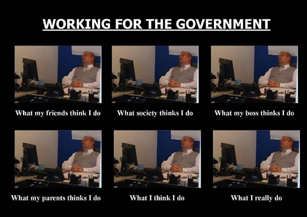 what people think government workers do