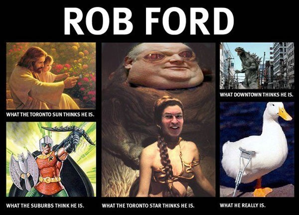what people think rob ford is
