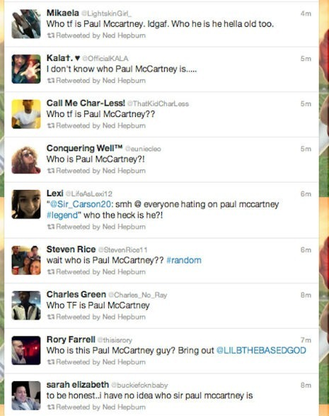 who is paul mccartney on twitter
