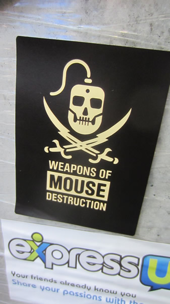 "Poster: ""Weapons of Mouse Destruction"""