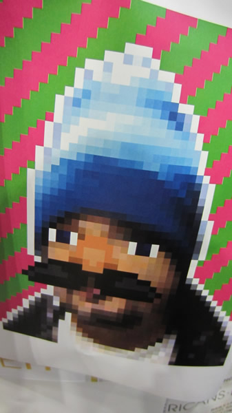 Poster: Not sure, but it looks like a pixelated Jeffery Zeldman