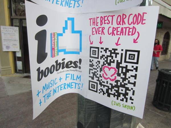 "Poster: ""I like boobies!"""