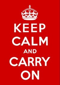 """""""Keep Calm and Carry On"""" poster"""