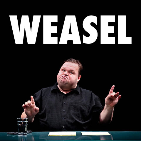 Mike Daisey, weasel