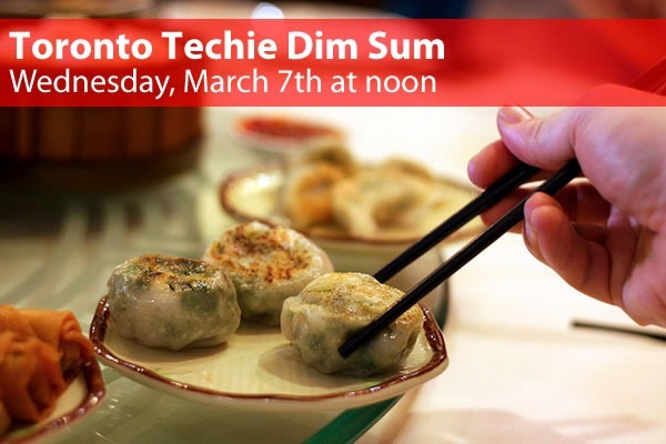 Toronto Techie Dim Sum - Wednesday, March 7th at noon: photo of chopsticks picking dumplings