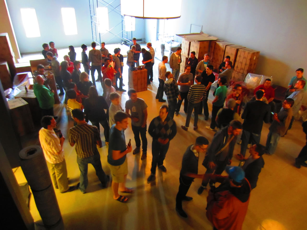 Shopify Lounge, as seen from above