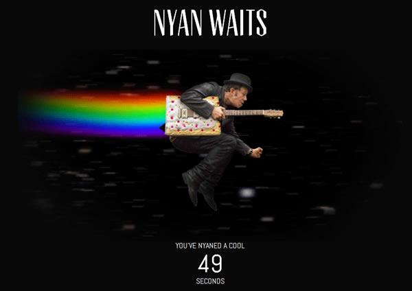"Screenshot of the ""Nyan Waits"" site"