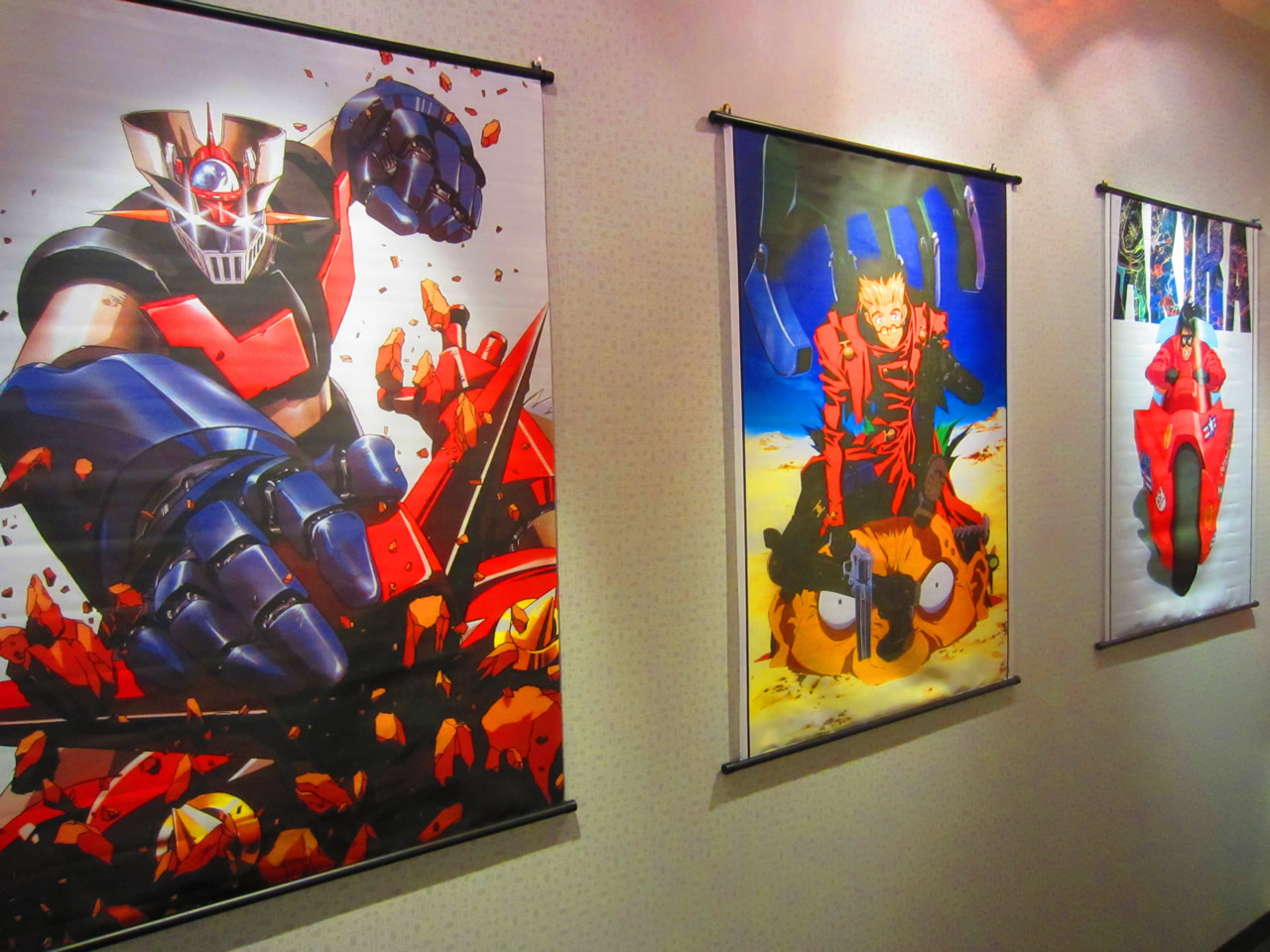Close-up of posters in Shopify's videogame room
