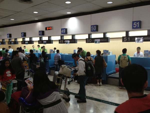 Cathay Pacific ticket counters at Ninoy Aquino International Airport