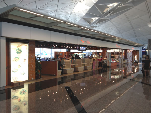 """My Nosh"" restaurant at Hong Kong airport"