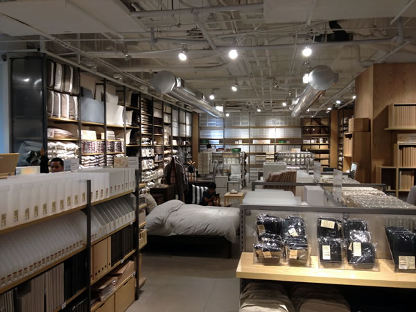 Interior of Muji