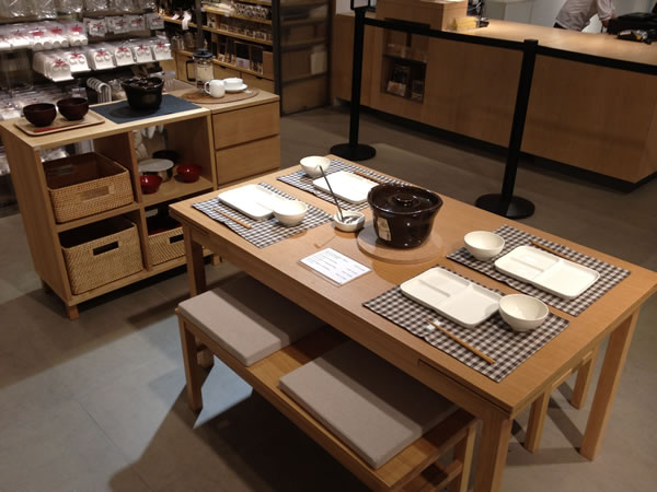 Dinner set at Muji