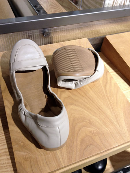 Roll-up shoes at Muji