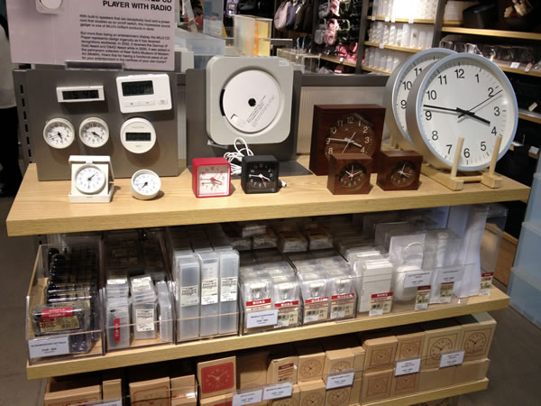 Clocks at Muji