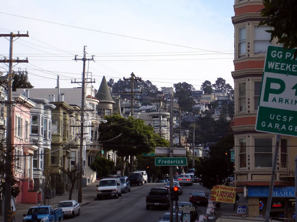 Haight-Ashbury neighbourhood, looking uphill