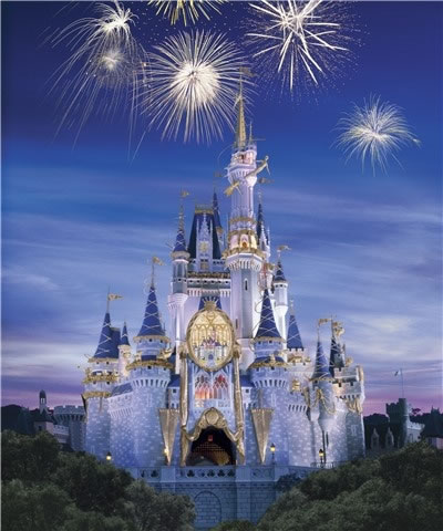 The Cinderella Castle at Disney theme parks