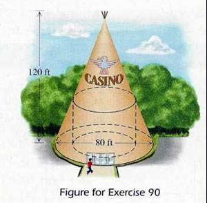"Illustration from math textbook showing a teepee labelled ""Casino"""