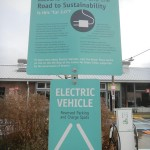 """Electric Vehicle"" sign at Evergreen Brick Works"