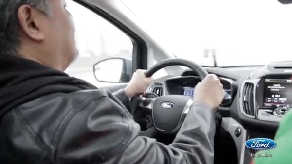 Joey deVilla behind the wheel of the Ford C-MAX