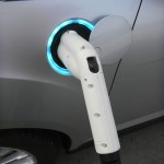 Fully-lit charging port on Ford C-MAX Energia