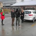 Tamara being filmed