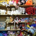 Shelves of plush dolls
