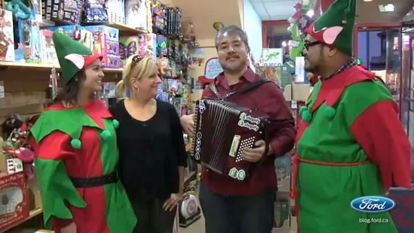 Sara, Tamara, Joey and Rannie in the toy store