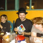 Quinn Norton, Damien Stolarz and Jillzilla enjoy some Tex-Mex.