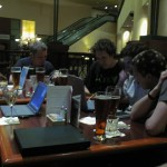 More nerdery at the hotel bar. Did anyone actually see any conference sessions?