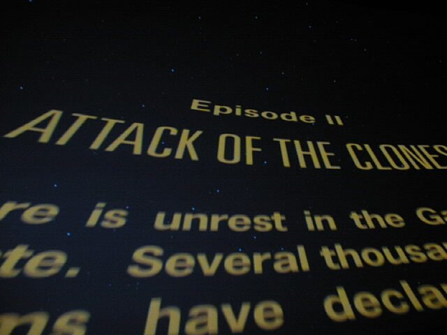 """Attack of the Clones"" opening crawl."