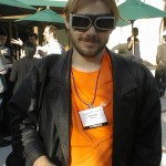 Damien Stolarz in goggles.