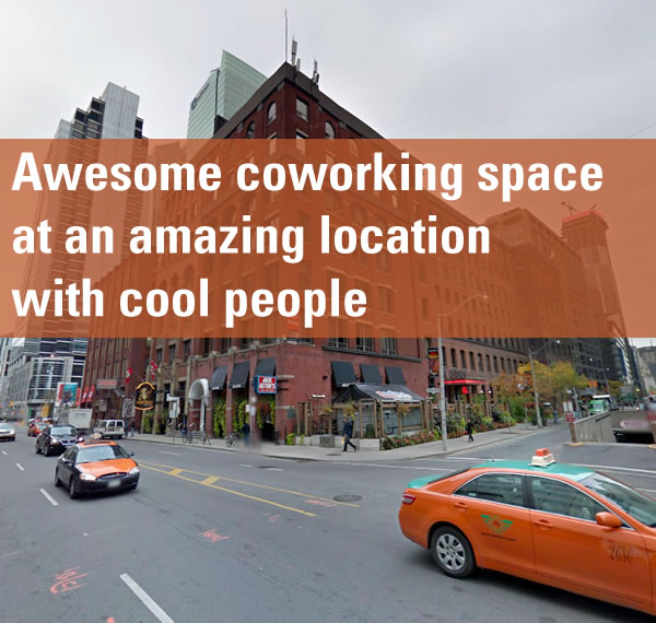 "Photo of building at corner of University Avenue and Front Street in Toronto: ""Awesome coworking space at an amazing location with cool people"""