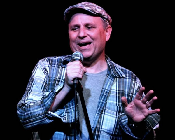 Bobcat Goldthwait, circa 2012, doing stand-up comedy