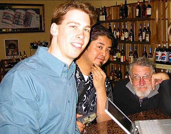 """Paul Baranowski, Joey deVilla and a wild-eyed John """"Captain Crunch"""" Draper"""