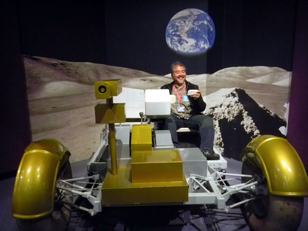 texting and driving on the moon