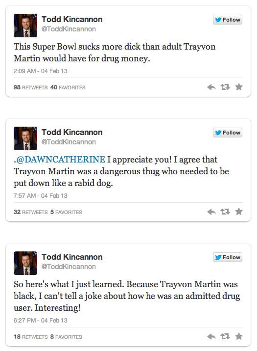 todd kincannons racist tweets