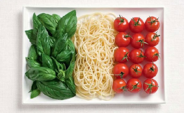 food as flags - italy