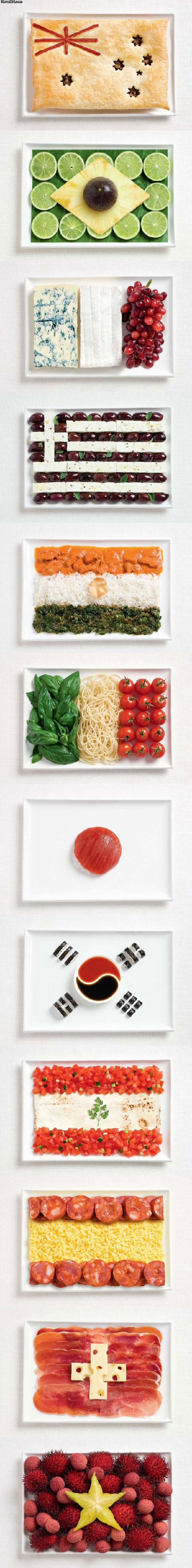food as flags