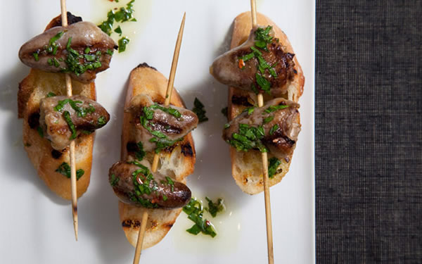 chicken heart brochettes