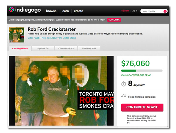rob ford crackstarter